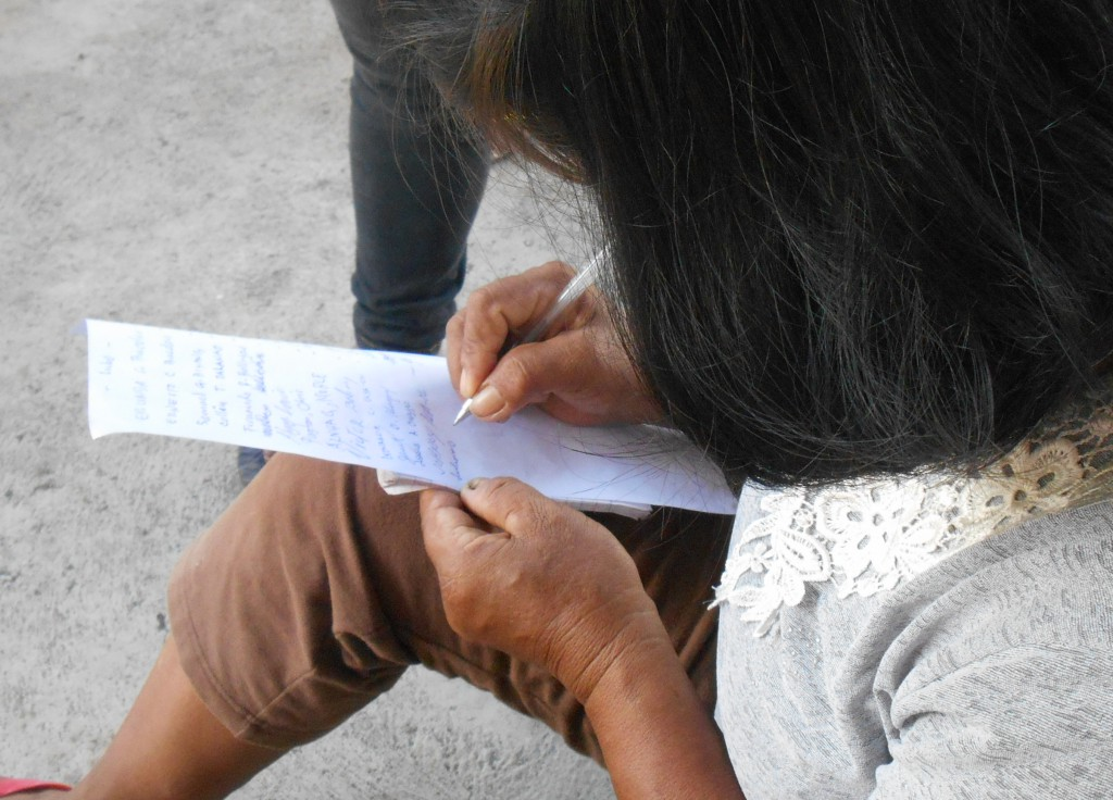 A participant signs the agreement