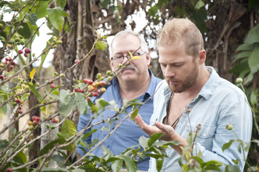 Matt Epp and Willard Metzger visit Coffee for Peace partner farm in Mount Apo (photo Kevin Becira)