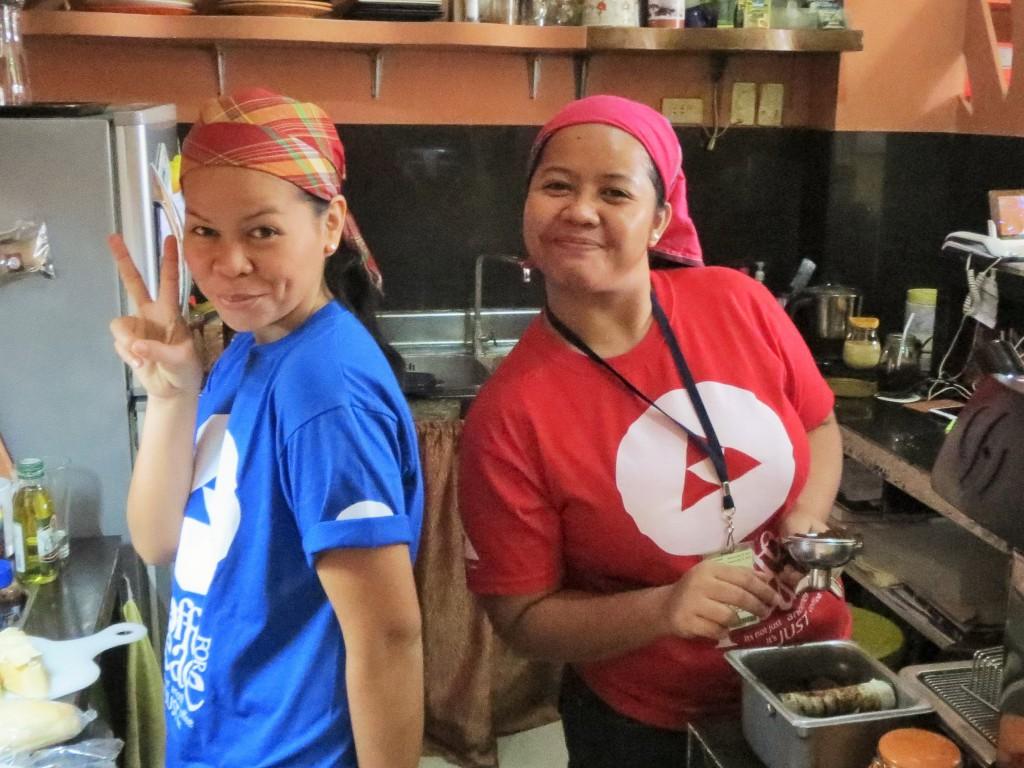 Catherine Moreno Olitao with fellow CFP barista Banissa Remolado