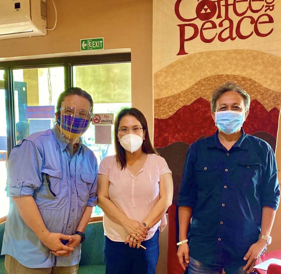 "<em>Daniel ""Lakan"" Pantoja, Mary Ann ""Sue San"" Arnado, and Joselito ""Penpen"" Libres: Justice and Peace Advocacy Colleagues</em>"